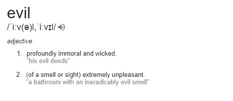 evil definition