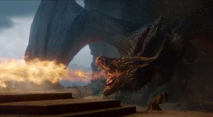 drogon burning iron throne